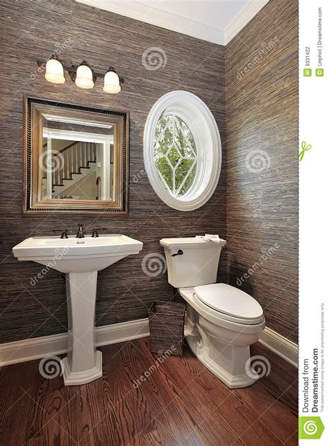 Pictures Of Decorated Bathrooms For Ideas powder room in luxury home stock photography image 9331422
