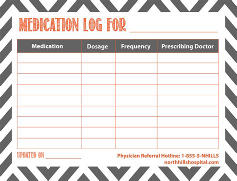 for printable 7 best images of printable medication list for