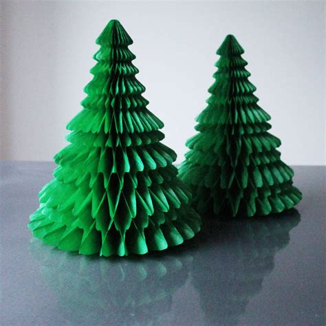 tissue paper tree decoration by pearl and earl