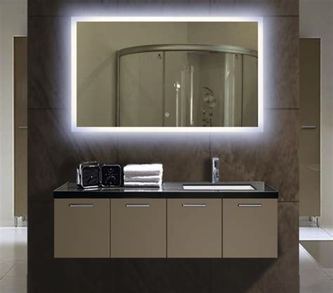 backlit mirrors for bathrooms illuminated bathroom mirrors