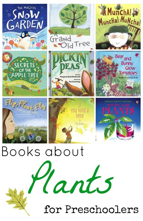 books for books about plants for preschoolers