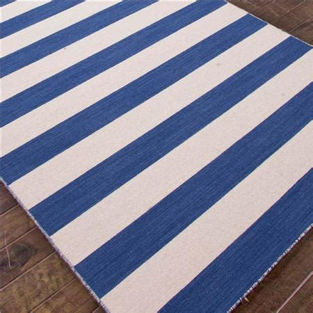 blue and white striped rug look 4 less and steals and deals