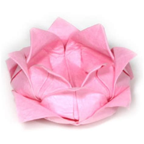 origami lotus blossom how to make a traditional origami lotus flower page 1