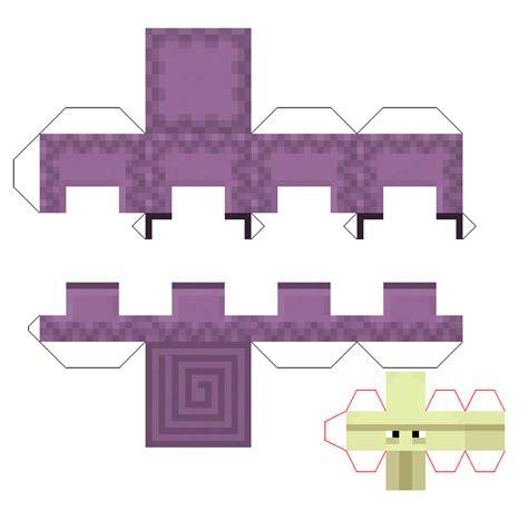 paper craft designs for papercraft shulker
