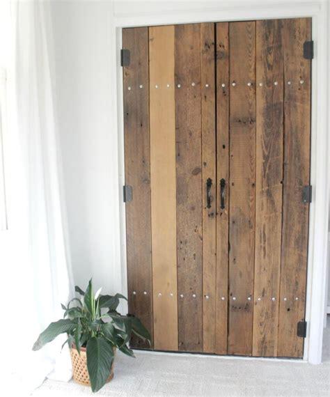 closet door diy diy reclaimed wood closet doors the definery co