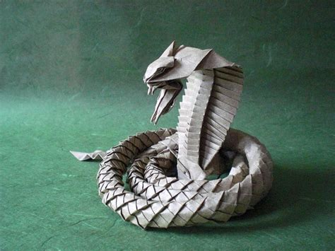 origami cobra i asped when i saw these origami snakes