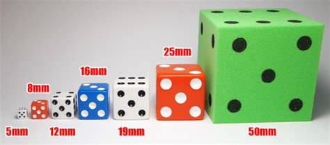12mm actual size dice sizes 8mm 12mm 16mm 19mm 25mm and more