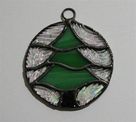 stained glass ornament stained glass tree ornament stained glass