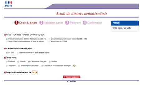 timbres ofii montant des taxes ofii 224 payer pour visa vls ts mariage franco marocain