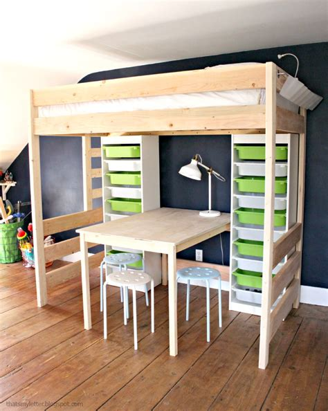 loft bed for diy loft bed with desk and storage