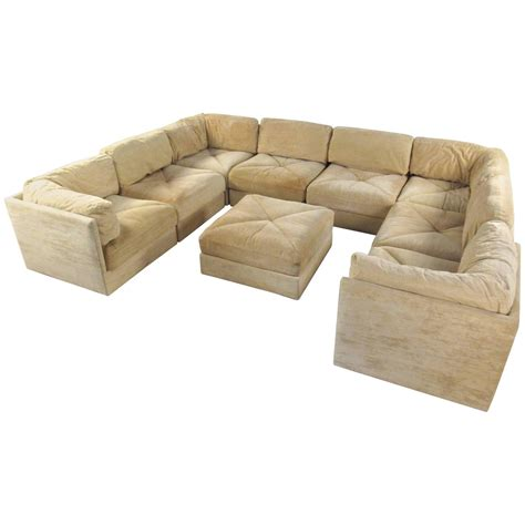 mid century sectional sofa large selig sectional sofa with ottoman mid century