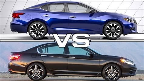 Nissan Accord by 2016 Nissan Maxima Vs 2016 Honda Accord
