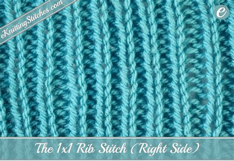 how to rib stitch knit 1x1 rib stitch eknitting stitches