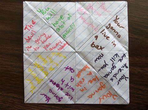 fortune teller origami ideas bible origami bradaptation