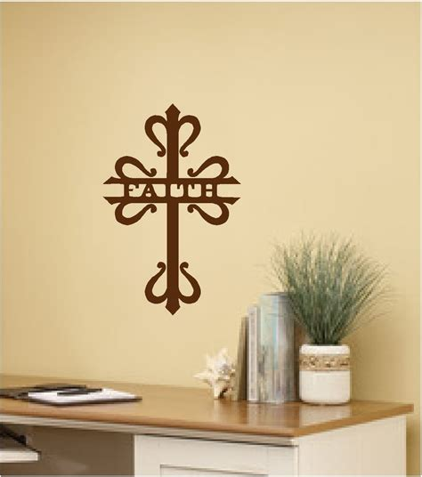 religious decor faith cross wall sticker wall decor vinyl decal