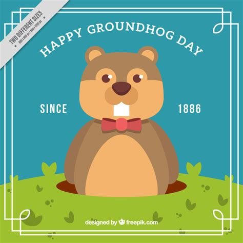 groundhog day used to something groundhog day since 1886 background vector free
