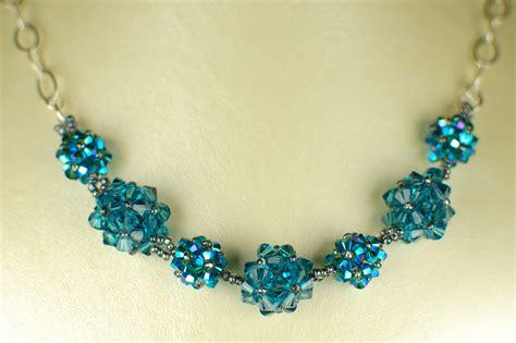 swarovski jewelry ideas blue swarovski necklace tannis elizabeth designs