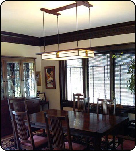 style dining room lights prairie style light fixture in dining room