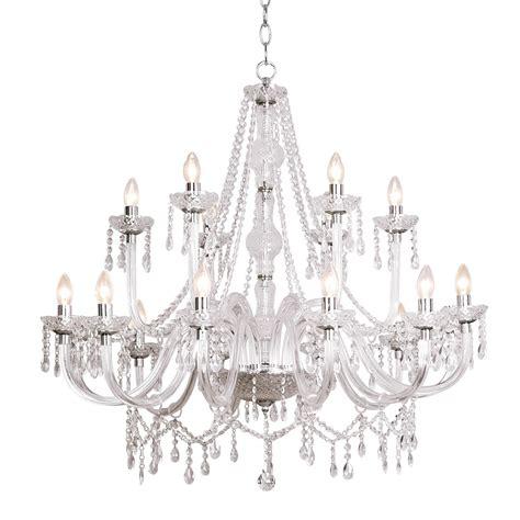 acrylic crystals for chandeliers dar kat1850 18 light acrylic chandelier