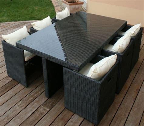 mobilier de jardin resine tressee