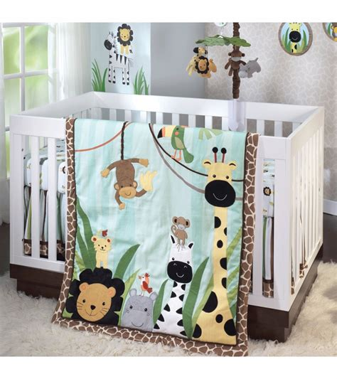 jungle crib bedding jungle crib bedding set bedding by nojo jungle pals 3pc