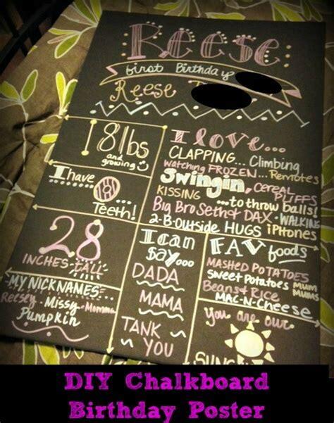 diy chalkboard sign birthday diy chalkboard birthday poster