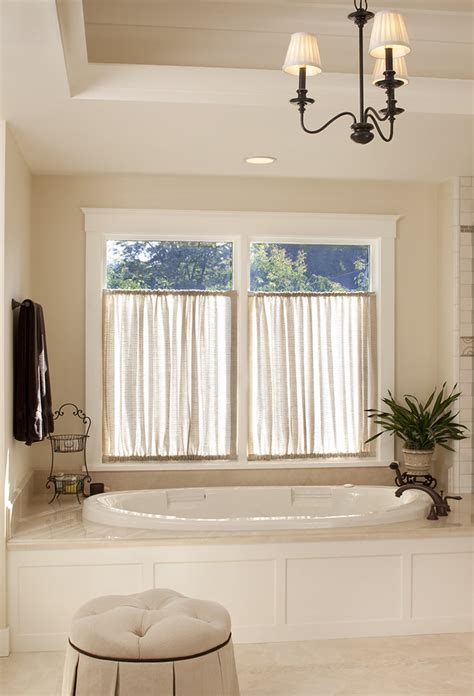 window treatment ideas for bathrooms cafe curtain rods bathroom traditional with bathroom lighting ceiling lighting chandelier
