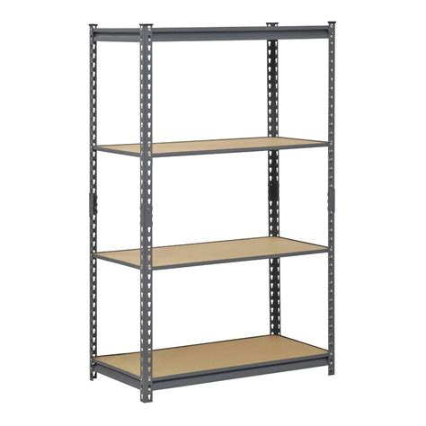 steel shelving units edsal 60 in h x 36 in w x 18 in d 4 shelf steel