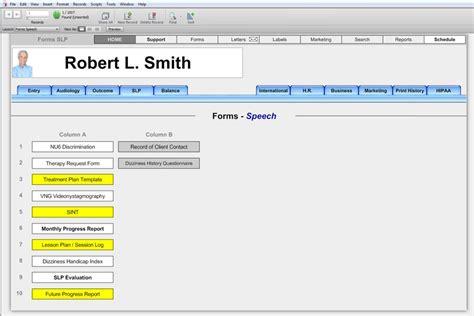 office speech speech language forms office forms hearform features