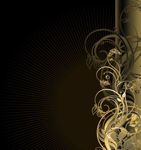 Car Wallpapers Free Psd Files Golden by Gold Floral Vector Backgrounds Free Vector In