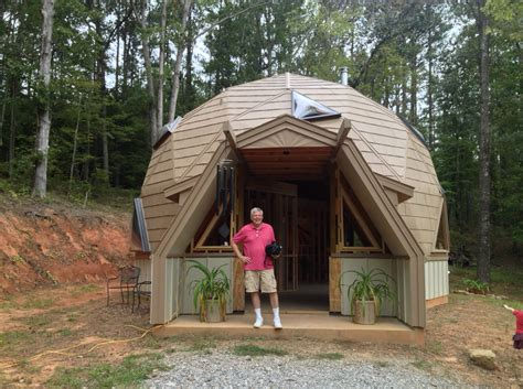 geodesic dome home touring a tiny home and geodesic dome home tinydawghouse