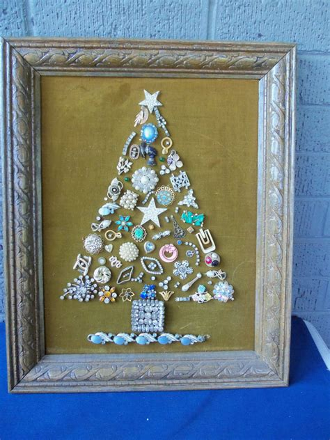 how to make a vintage jewelry tree vintage costume jewelry tree framed