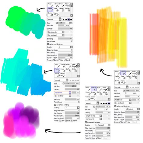 paint tool sai square brush brush settings for painttool sai by m42ngc1976 on deviantart