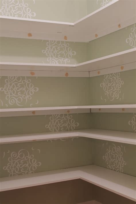 Ideas For Kitchen Decorating kitchen hanging the shelves with pantry shelving and