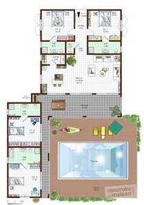 plan maison contemporaine plain pied toit plat maison moderne
