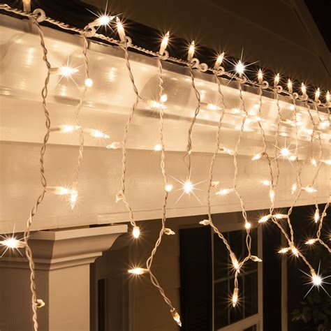 gold icicle lights icicle light 150 clear twinkle icicle lights