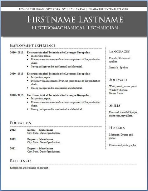 blank resume templates download free amp premium templates