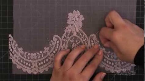 how to sew onto lace how to make a lace applique using blanket stitch