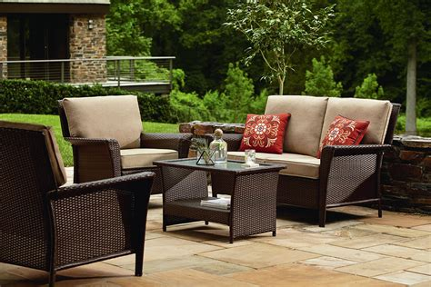 seating patio furniture sets ty pennington style parkside seating set in brown sears
