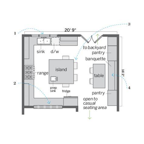 inspiring square kitchen plan home design 1091