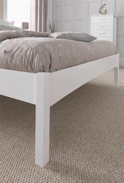 small white wooden bed frame serene eleanor 4ft small white wooden bed frame