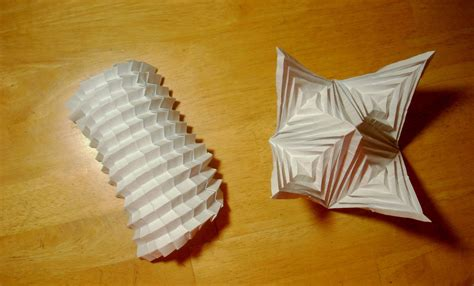 cool origami shapes cool 3d origami tessellation