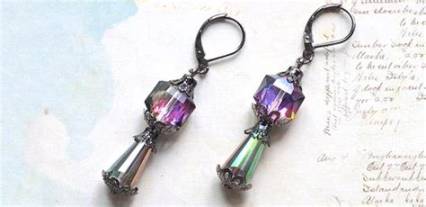make your own jewelry ideas make your own glamorous times earrings easy retro style