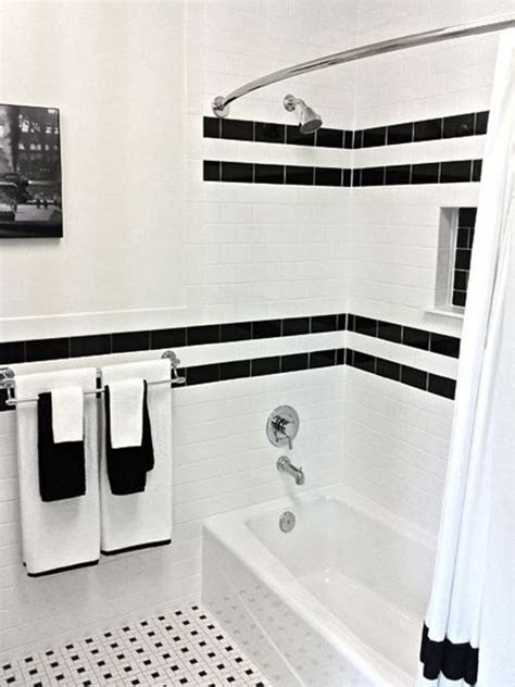 Black And White Bathroom Tile Ideas by 31 Retro Black White Bathroom Floor Tile Ideas And Pictures