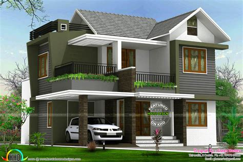 home design for 4 cent 4bhk floor plan and elevation in 5 cent kerala home