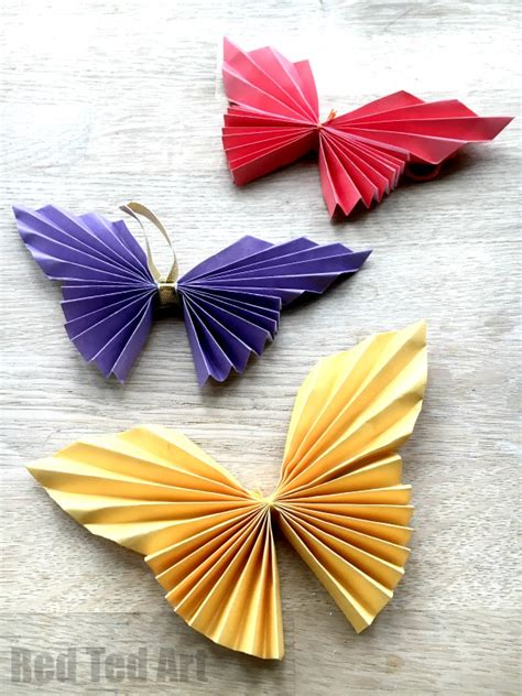 origami paper craft easy paper butterfly ted s
