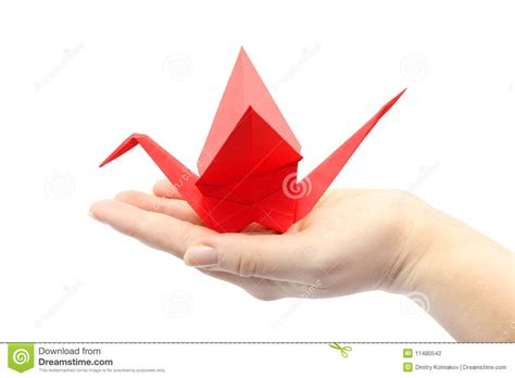 origami sitting origami crane sitting on the s stock