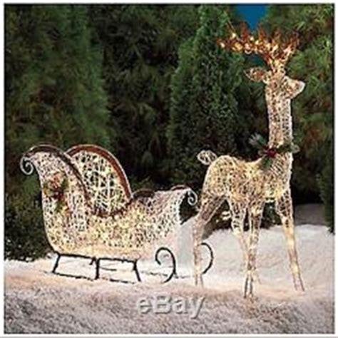 outdoor lighted sleigh outdoor lighted sleigh and reindeer decore