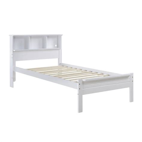 bed bookcase headboard single bed with bookcase headboard in white baf 510 s