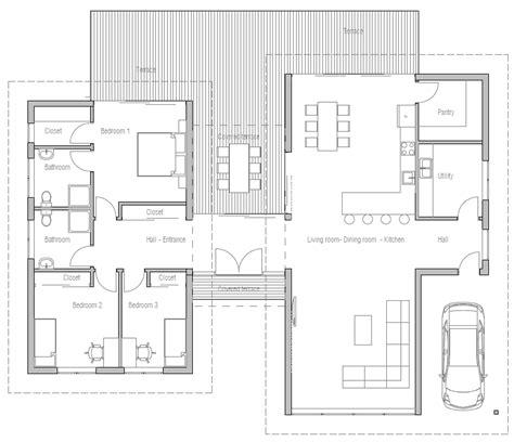 modern open floor house plans floor plan friday 3 bedroom modern house with high ceilings open plan